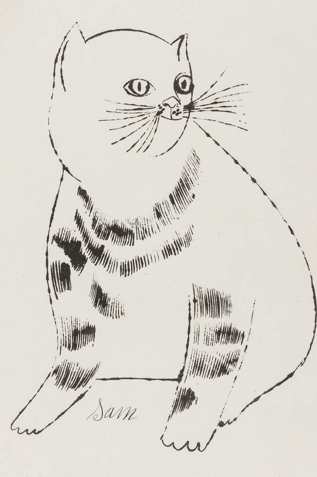 ANDY WARHOL SAM ( from 25 Cats named Sam and One Blue Pussy), 1954