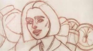 Skizze einer Frau mit Halskette
