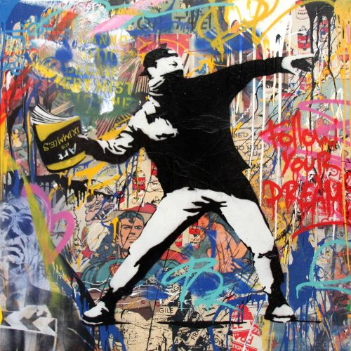 Mr. Brainwash Banksy Thrower, 2015
