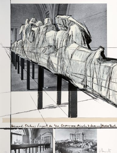 CHRISTO Wrapped Statues (Project for