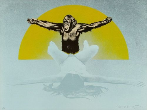 mel_ramos_Cheetah_and_Jane_(Woman_ with_Chimpanzee)_1969