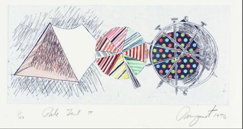 Abstrakte Zeichnung eines Zeltes von JAMES ROSENQUIST 1976