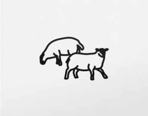 JULIAN OPIE Sheep.2, 2015