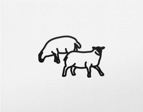 JULIAN OPIE Sheep.2, 2015