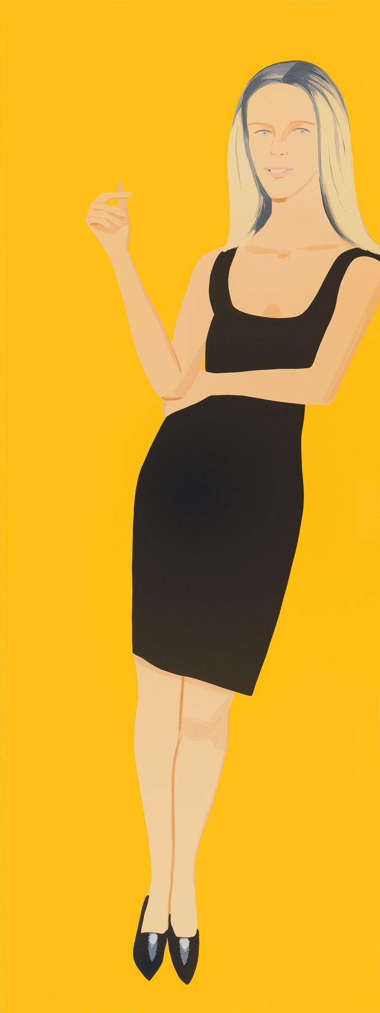 ALEX KATZ Black Dress (Yvonne), 2015
