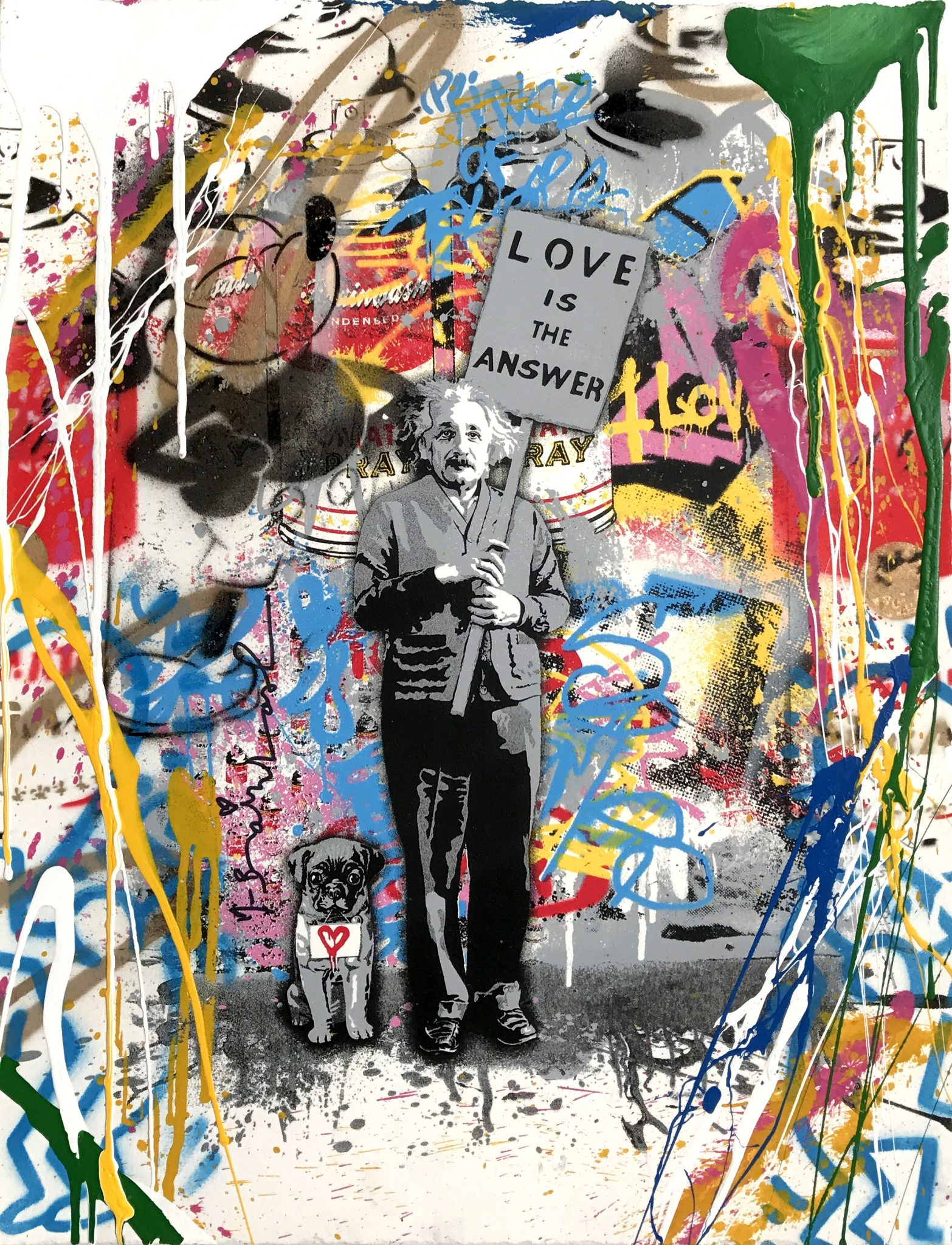 MR. BRAINWASH Love Is The Answer, 2016