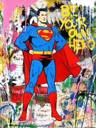 MR. BRAINWASH Superman, 2017