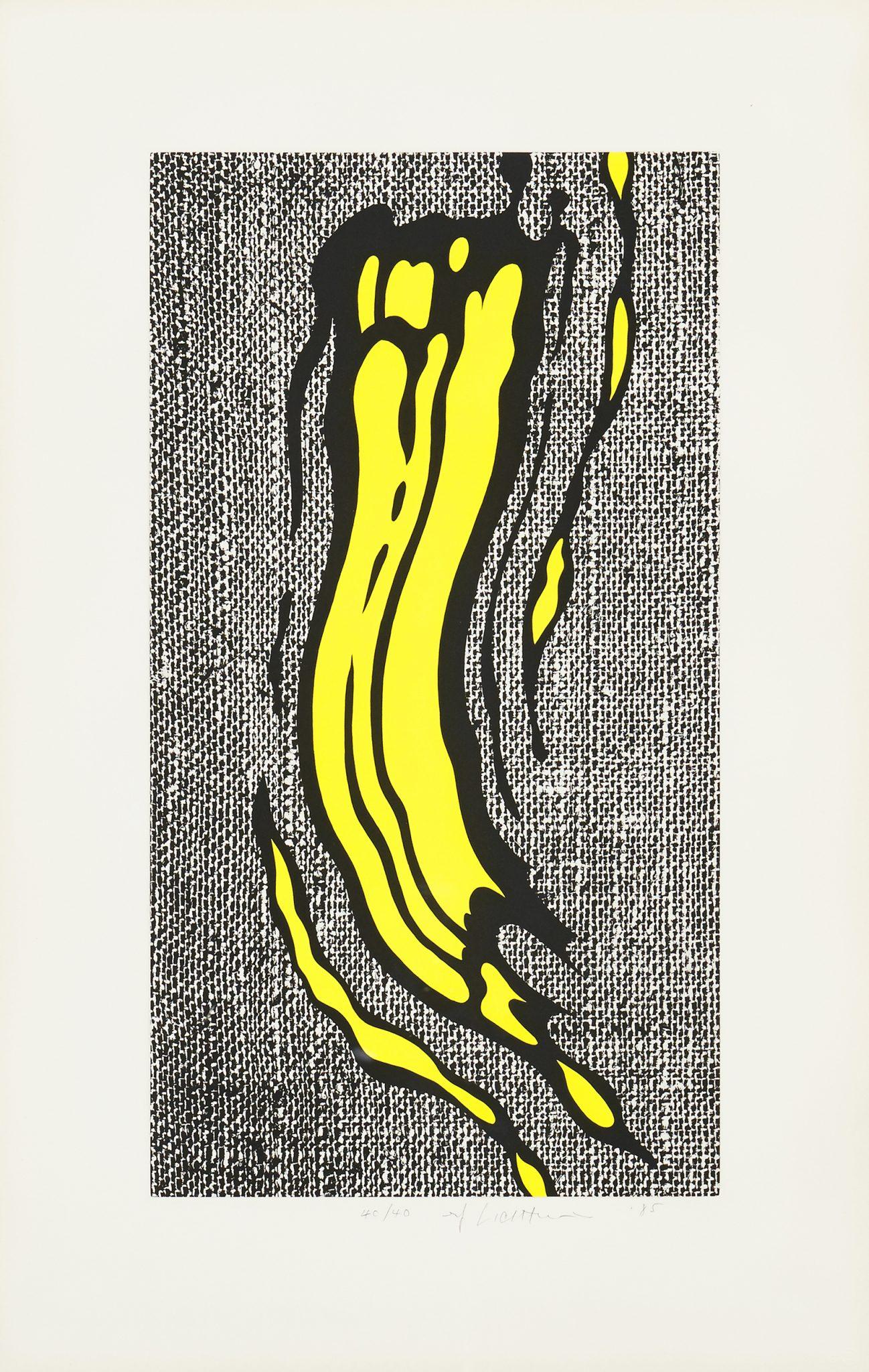 ROY LICHTENSTEIN Yellow Brushstroke, 1985