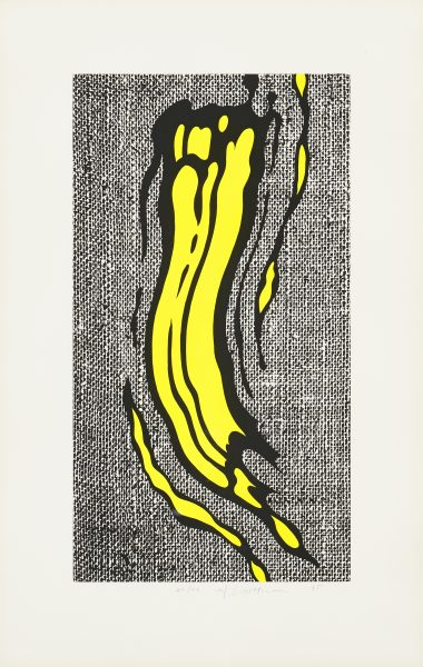 ROY LICHTENSTEIN Yellow Brushstroke, 1985