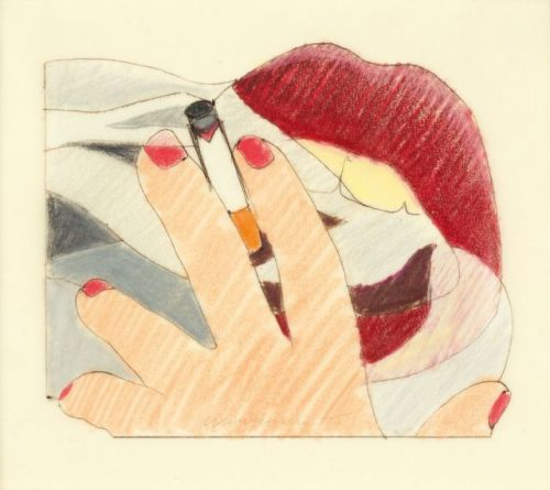 Tom Wesselmann STUDY FOR A PROPOSED SMOKER, 1975