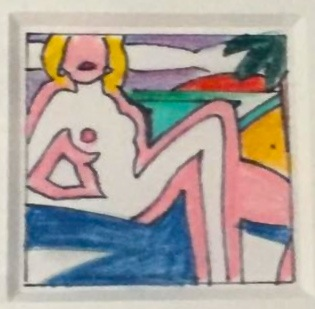 Tom Wesselmann Study for Seated Sunset Nude (1), 2002