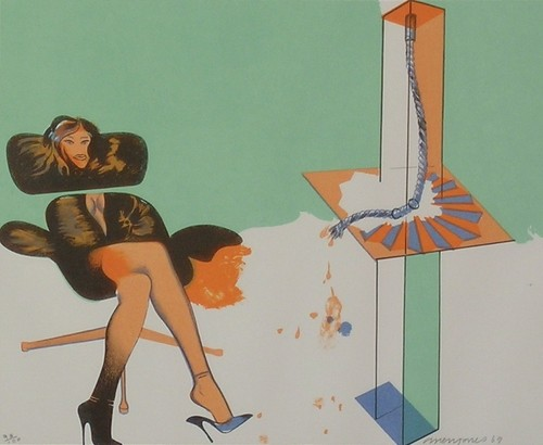 Allen_Jones_Young_Woman_Contemplating_Sculpture_1969