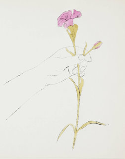 Andy Warhol Hand and Flowers I, ca. 1957