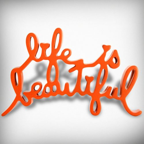 MR. BRAINWASH Life is Beautiful orange, 2015