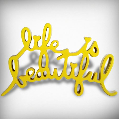 MR. BRAINWASH Life is Beautiful yellow, 2015