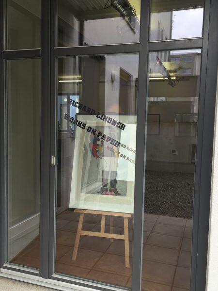 Impressionen: Eingangsbereich der Ausstellung Works on paper