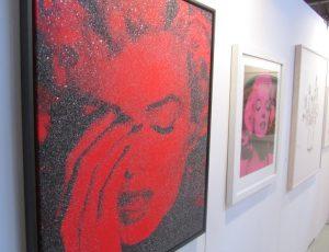 Gemälde von Marylin Monroe auf der Kunstmesse Art.Sylt 2016