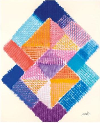 Abstraktes, wabenförmiges Bild aus zwei Quadraten in verschiedenen Farbtönen