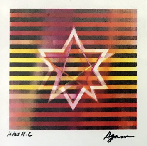 Yaacov Agam Two Stars (Small)