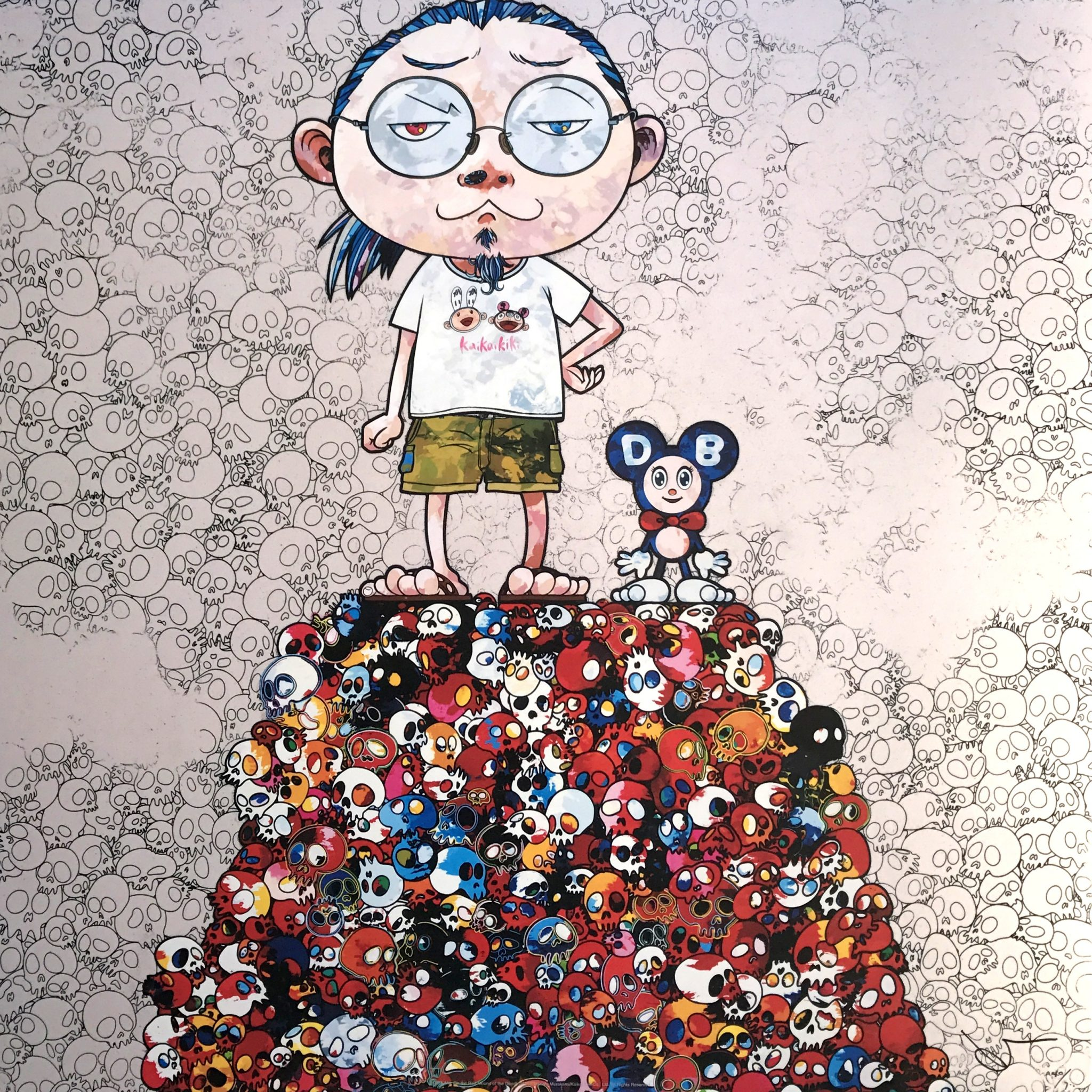 TAKASHI MURAKAMI DOB & Me- On the Red Mound of the Dead, 2013.1