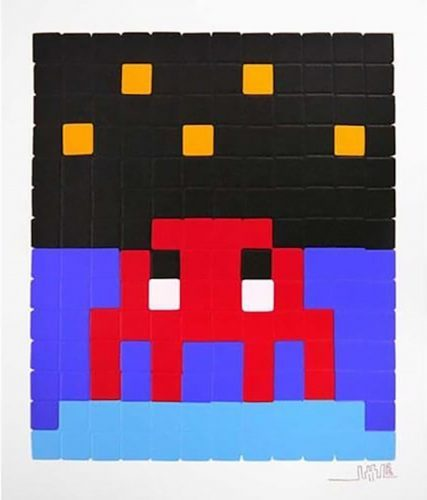 INVADER Space One (Red), 2013