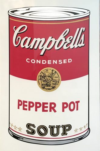 ANDY WARHOL Campbell's Soup I- Pepper Pot Soup (FS II.51), 1968
