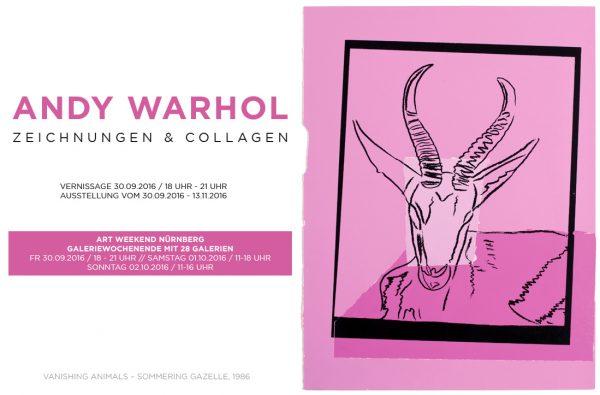 Flyer Andy Warhol Ausstellung