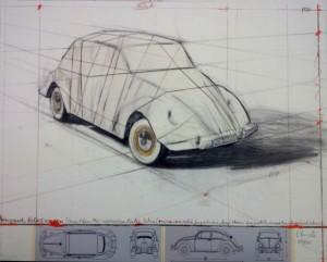 Volkswagen in Konzeptzeichnung