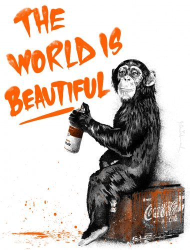 mr_brainwash_The_World_Is_Beautiful_orange