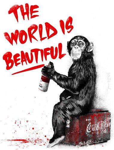 mr_brainwash_The_World_Is_Beautiful_red