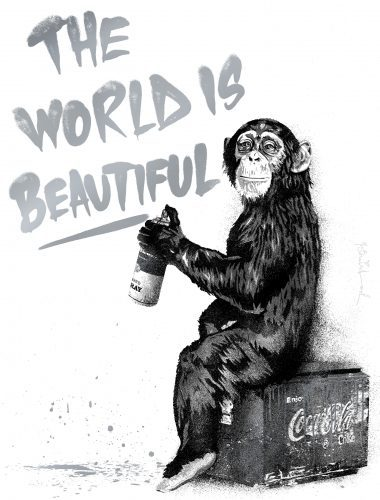 mr_brainwash_The_World_Is_Beautiful_silver