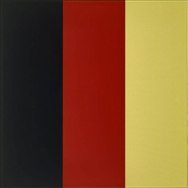 Bild der Farben der deutsch Nationalflagge: Schwarz, Rot, Gold