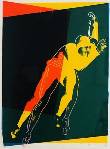 Speed Skater, from Art and Sports portfolio_1983