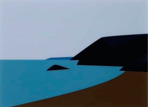 JULIAN OPIE Cornish Coast 2.- Lantic Bay., 2017