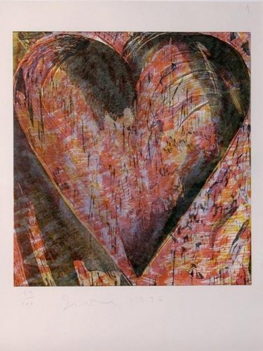 JIM DINE Untitled (Heart of Bam), 1996