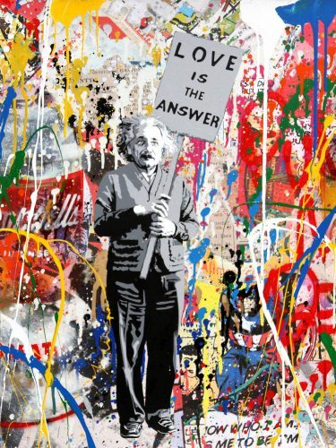 MR. BRAINWASH Einstein, 2017