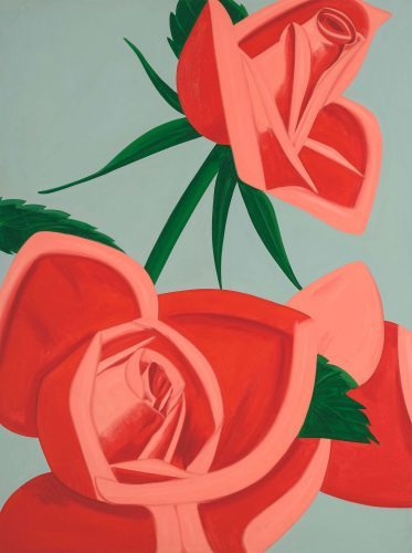 alex_katz_rose_bud_2018 Alex_katz_museum_brandhorst_münchen_face_girl_pink_popart_galeriehafenrichter_art_edition_new_usa_fineart_streetart_oldman_nohair_bigartist_flowers_rose__red