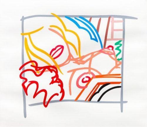 TOM WESSELMANN Bedroom Blonde Doodle with Photo, 1988