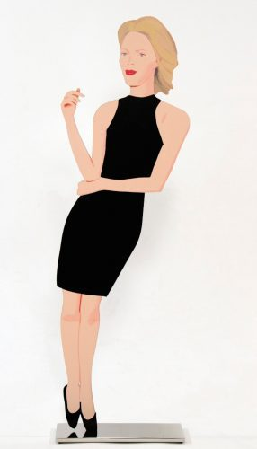 ALEX_KATZ_Ruth_from_Black_Dress_201_Cutout_from_shaped_powder_coated_aluminum_printed_the_same on_each_side_woman_beautiful_art_popart_new_girl_artbasel_museum_brandhorst_munich_nueremberg_nürnberg