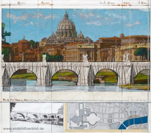 Ponte Sant Angelo in Konzeptzeichnung
