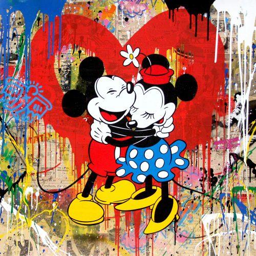 mr_brainwash_Mickey_Minnie_streetart_love_usa_mickey_maus_affe_Minnie_kids_dog_punk_einstein_artbasel_nueremberg_sale_gallery_losangeles_street_munich_alex_katz_andywarhol_tomwesselmann_grafiti_dose_campbells_soup_new_roylichtenstein_studio_art_artist_newyork