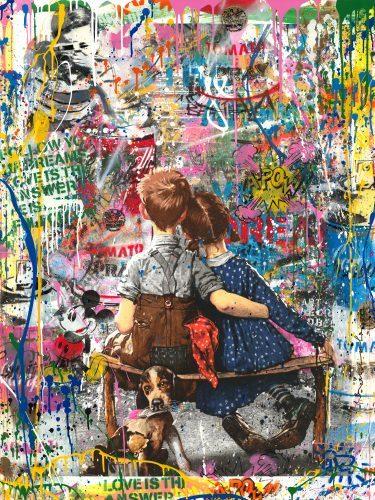 mr_brainwash_Work_Well_Together_streetart_love_usa_mickey_maus_affe_Minnie_kids_dog_punk_einstein_artbasel_nueremberg_sale_gallery_losangeles_street_munich_alex_katz_andywarhol_tomwesselmann_grafiti_dose_campbells_soup_new_roylichtenstein_studio_art_artist_newyork