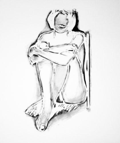 tom_wesselmann_MONICA SITTING BY WALL, 1990