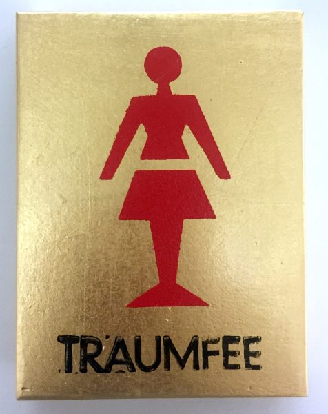 Toilettenschild weiblich mit Aufschrift