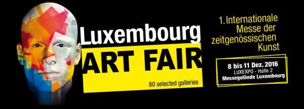 Werbebanner zum LUXEMBURG ART FAIR 2016