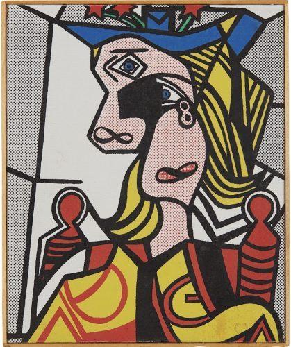 Richard_Pettibone_Roy_Lichtenstein_Woman_with_Flowered_Hat