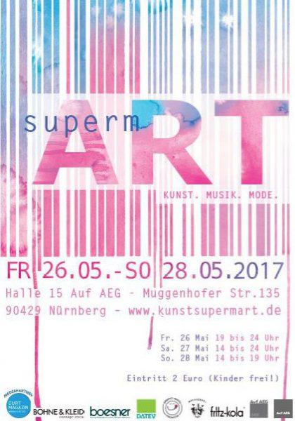 Frontansicht Eintrittskarte Supermart 2017