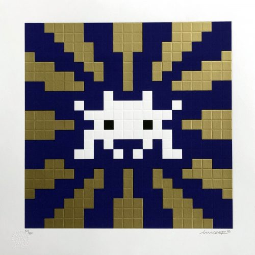 INVADER Sunset ( Gold & Blue), 2018