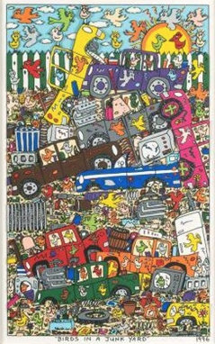 JAMES RIZZI BIRDS IN A JUNK YARD, 1996